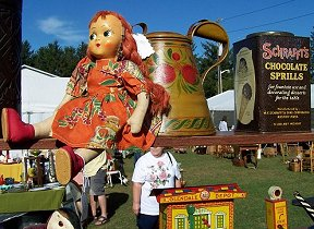 Old Hickory Antique Ctr booth at CCHS Antique Show.